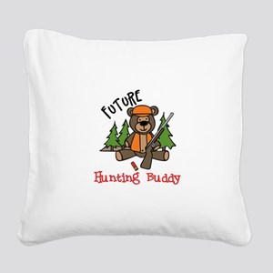 Hunting Buddy Square Canvas Pillow