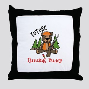 Hunting Buddy Throw Pillow