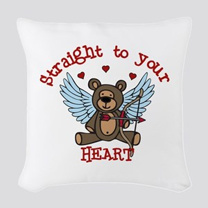 Straight to your Heart Woven Throw Pillow