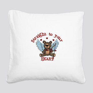 Straight to your Heart Square Canvas Pillow
