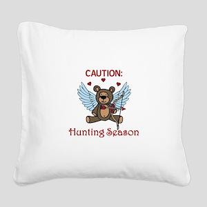 Hunting Season Square Canvas Pillow