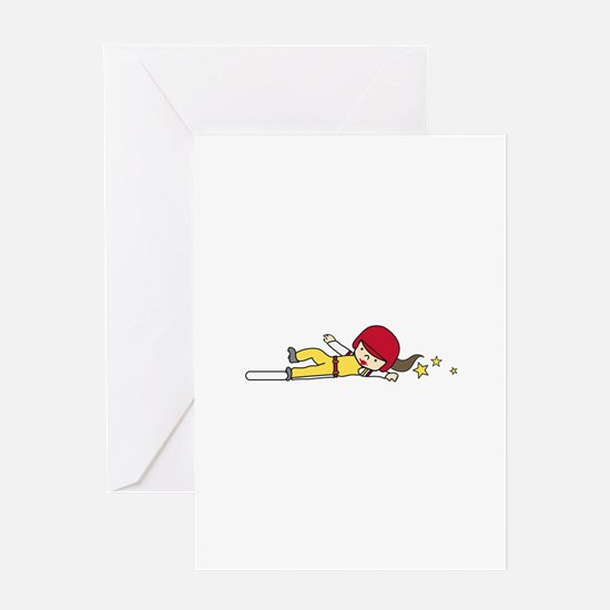 Softball Slide Greeting Cards