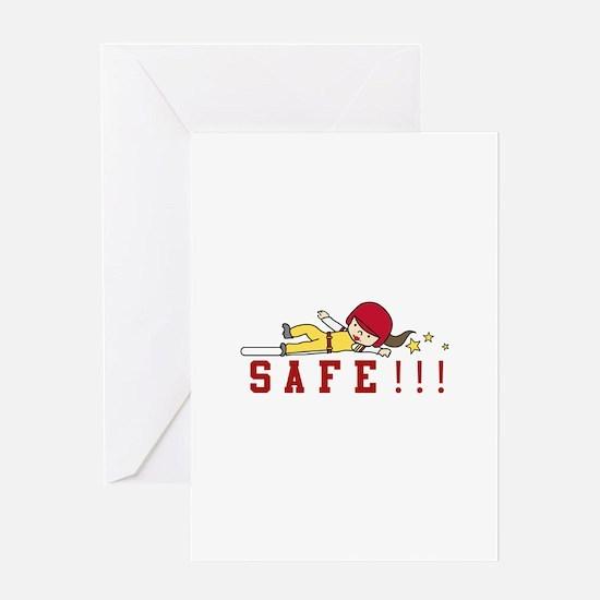 Safe!!! Greeting Cards