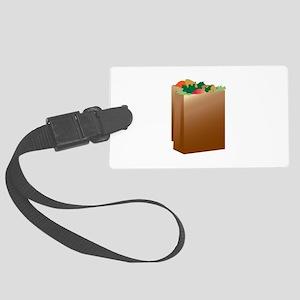 Paper Grocery Sacks Luggage Tag