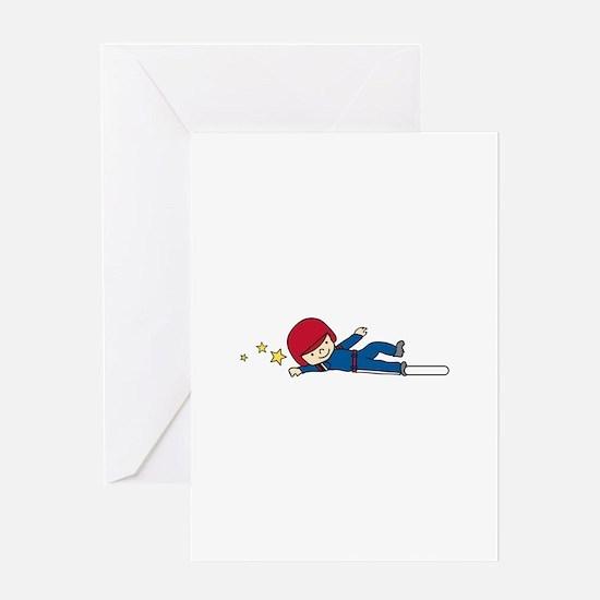 Little League Slide Greeting Cards