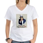 Debt 2 Society Women's V-Neck T-Shirt