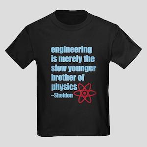 Big Bang Theory - Engineering Qu Kids Dark T-Shirt