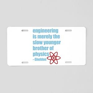 Big Bang Theory - Engineeri Aluminum License Plate