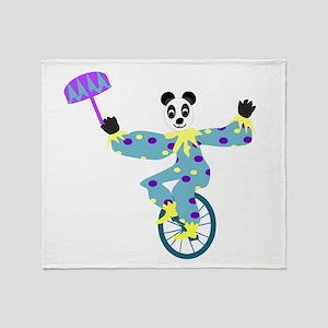 Unicycle Panda Throw Blanket