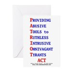 Patriot Act Greeting Cards (Pk of 10)