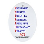 Patriot Act Ornament (Oval)