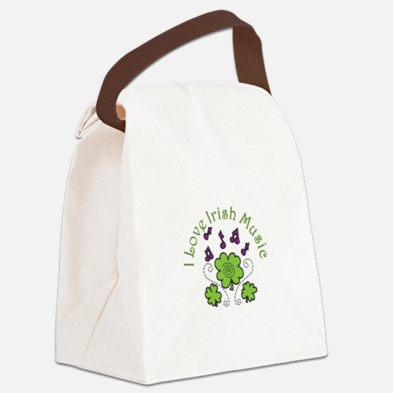 Love Irish Music Canvas Lunch Bag