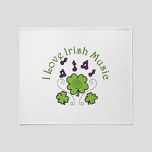 Love Irish Music Throw Blanket