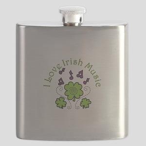 Love Irish Music Flask