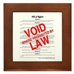 Bill of Rights: Void by Law Framed Tile