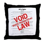 Bill of Rights: Void by Law Throw Pillow