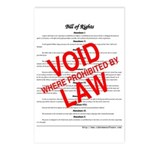 Bill of Rights: Void by Law Postcards (Package of