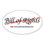 Bill of Rights: Void by Law Sticker (Oval)
