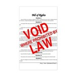 Bill of Rights: Void by Law Sticker (Rectangle)