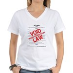 Bill of Rights: Void by Law Women's V-Neck T-Shirt