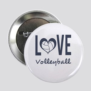 """Love Volleyball 2.25"""" Button"""