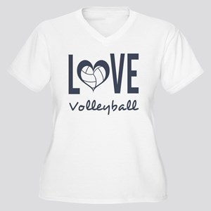Love Volleyball Women's Plus Size V-Neck T-Shirt