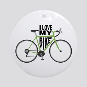 I Love My Bike Ornament (Round)