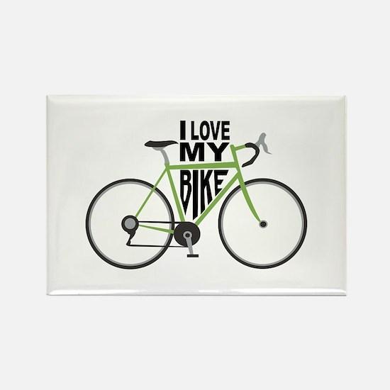 I Love My Bike Magnets