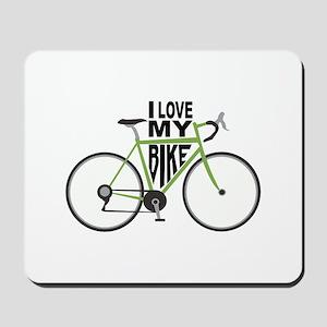 I Love My Bike Mousepad