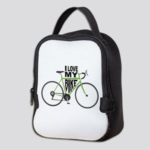 I Love My Bike Neoprene Lunch Bag