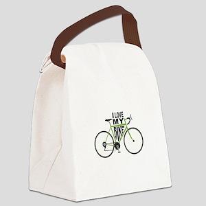 I Love My Bike Canvas Lunch Bag