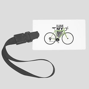 I Love My Bike Luggage Tag