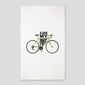 I Love My Bike 3'x5' Area Rug