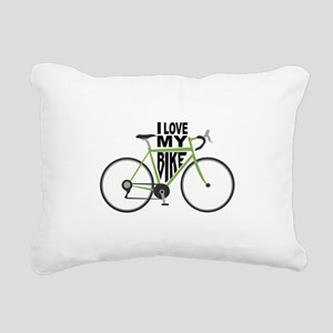 I Love My Bike Rectangular Canvas Pillow