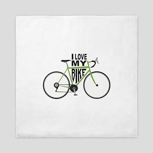 I Love My Bike Queen Duvet