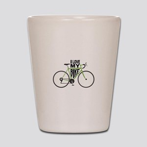 I Love My Bike Shot Glass
