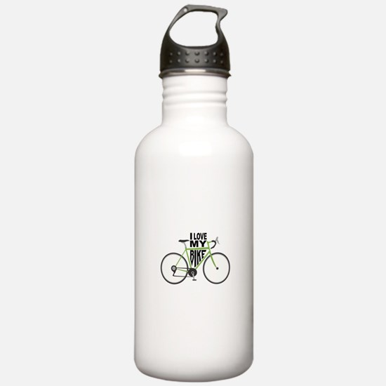 I Love My Bike Water Bottle