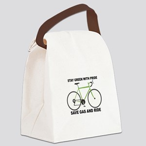 Stay Green With Pride Save Gas And Ride Canvas Lun