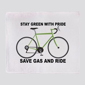 Stay Green With Pride Save Gas And Ride Throw Blan