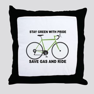 Stay Green With Pride Save Gas And Ride Throw Pill