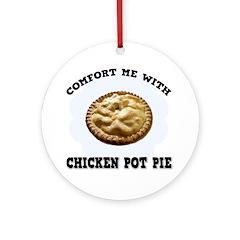Comfort Chicken Pot Pie Ornament (Round)