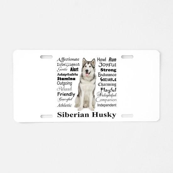 Cute Siberian Aluminum License Plate