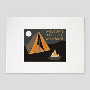 Welcome To The Wilderness 5'x7'Area Rug