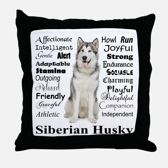 Unique Huskies Throw Pillow