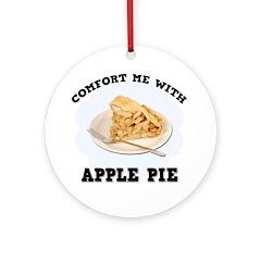 Comfort Apple Pie Ornament (Round)