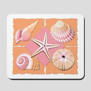 Collage of Beach Seashells Mousepad