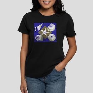 Collage of Beach Seashells Women's Dark T-Shirt