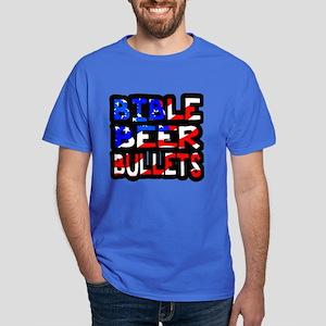 Bible Beer Bullets Dark T-Shirt