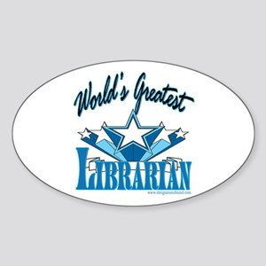 Greatest Librarian Oval Sticker