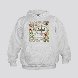 modern vintage French dragonfly Hoodie